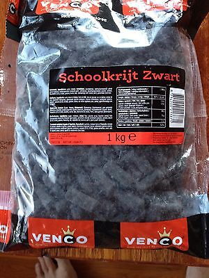 Dutch Licorice  Schoolkrijt - Chalk Licorice (Black) Big 1 Kg Bag