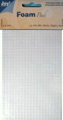 Joy Crafts Foam Squares 5mm x 1.5mm - White