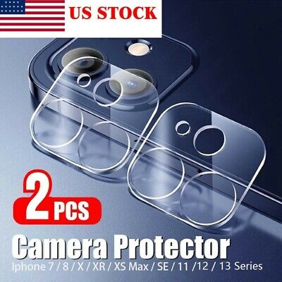 2Pcs iPhone 11 Pro Max FULL COVER HD Tempered Glass Camera Lens Screen Protector