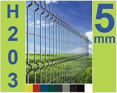 Fence system compl. Mat fence Grid meshes Metal fence fence Lattice fence