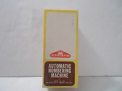 Carter's Automatic Numbering Machine Model #106