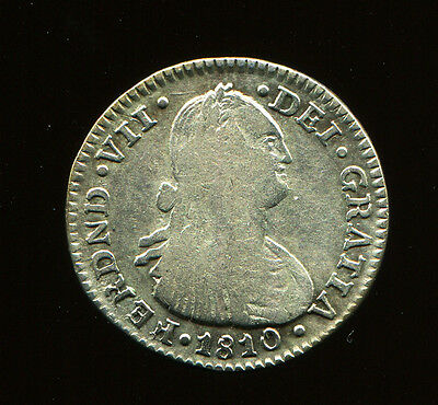 1810 JF Colombia 1 Real - NR silver -  Scarce - Nuevo Reino Transitional Bust