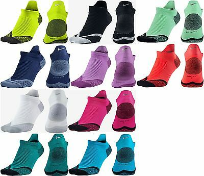 New Nike Elite Cushioned No Show Tab Running Socks Reflective Men Women