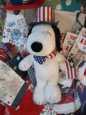 PEANUTS SNOOPY Uncle Sam GREETER Patriotic SUMMER PARTY 4th of July USA NEW