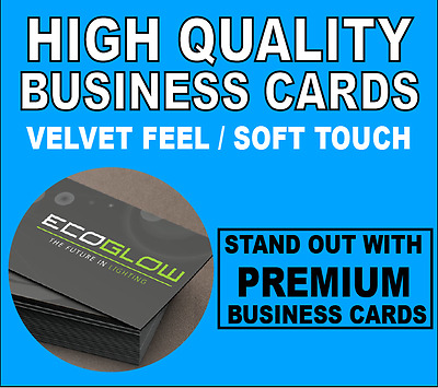 PREMIUM Business Cards Printed On 450gsm Velvet/ Soft Touch Finish Full Colour