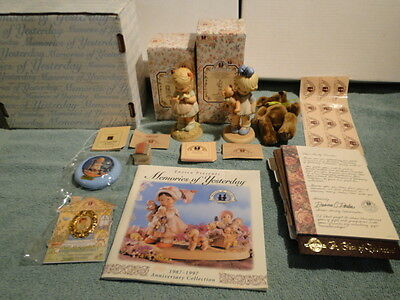 New Enesco M-O-Y  Charter Member (Collectors Society) Set 2-Figurines Plus More