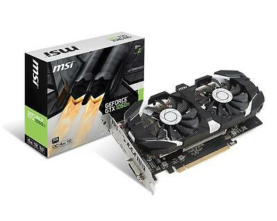 MSI nVidia GeForce GTX 1050 Ti OC 4GB GDDR5X Gaming Graphics Video Card HDMI
