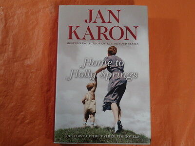 Lot of 2: Jan Karon's Home to Holly Springs Hardcover/DJ & audiobook, cds, Exc