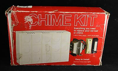 Vtg Trine Door Chime Doorbell Kit
