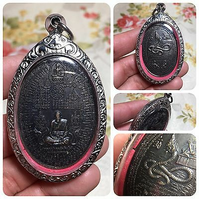 Great Lp Thuad Snake Yantra Lion Naka Amulet Luck Rich Wealth Life Protect
