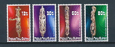 Papua New Guinea  632-5 MNH, Wood Carvings, 1985