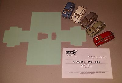 SCALEXTRIC EXIN SEAT TC600 C-31 and CFTC REPLACEMENT BOX INSERT + INSTRUCTIONS