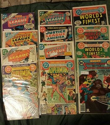 Justice League Of America Superman Family Worlds Finest Lot Of 12 70s and 80s