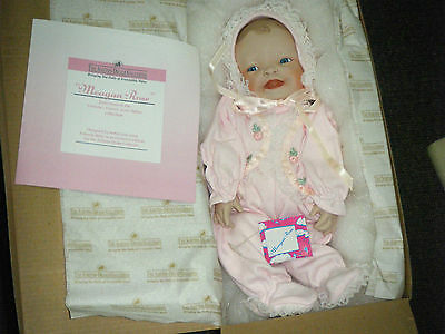 New Mint Boxed Ashton Drake Porcelain Baby Doll - 'Meagan Rose'