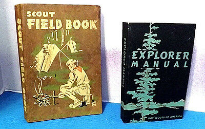 "Boy Scout ""Scout Fieldbook"" (1953)1948 and EXPLORER MANUAL  1955 Good Condition"