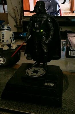 STAR WARS Darth Vader Piggy Bank Figurine Interactive Talking AMAZING