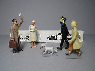 5  Figurines 1/43  Set  315   Rencontre  Avec  Tintin   Vroom  Unpainted