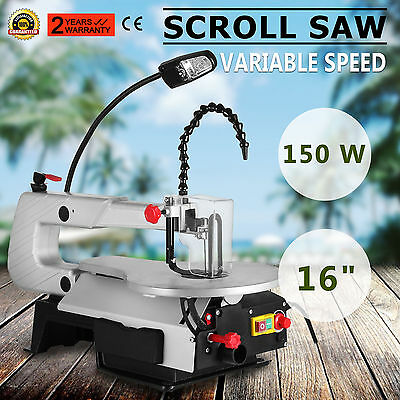 406mm Scroll Saw Variable Speed Fret Saw Woodwork Blades Adjustable Table
