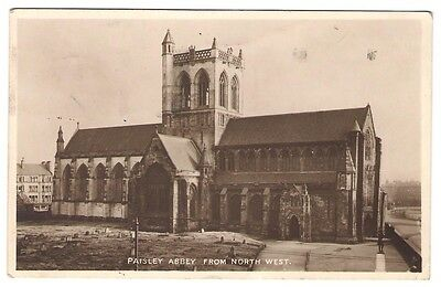 Paisley Abbey from the North West - 1945 - Postcard