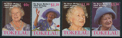 Tokelau 284-7 MNH Queen Mother 100th Birthday
