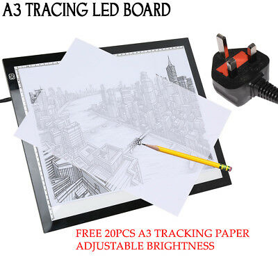 A3 Art Design LED Light Box Tracing Board Stencil Drawing Pattern Pen Copy Pad