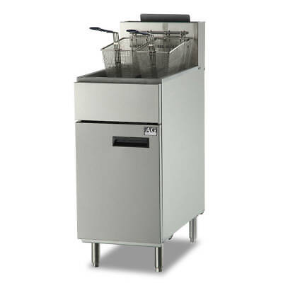Commercial Gas Deep Fryer, Single 25L Vat 4 Burner 2 baskets  LPG