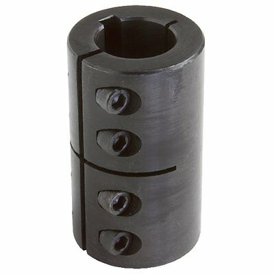 Climax Part ISCC-075-075-KW Mild Steel, Black Oxide Plating Clamping Coupling, X