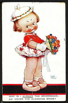 Mabel Lucie Attwell 1927 Valentine's Postcard No. 1097 Little Girl Bridesmaid