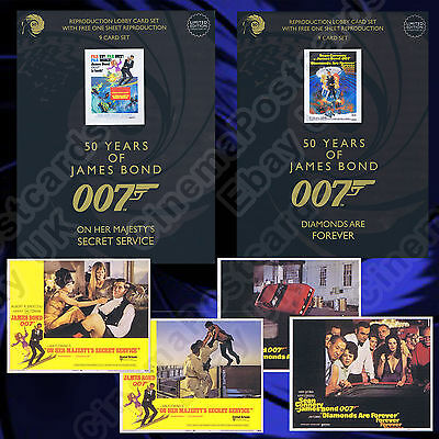 007 James Bond OFFICIAL 50 Years 50th Anniversary 2012 8-Lobby Card Set w/Poster