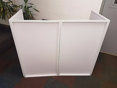 Equinox Foldable DJ Screen White with Carry Bag Mobile DJ Disco Lightweight