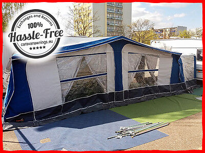 110 Pyramid Corsican Caravan Awning 1025-1050 Size 16 With Annexe