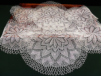 Set of 6 Vintage Finely Azores pita Knitted Linen lace Table Mats