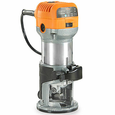 "VonHaus Compact Palm Router Saw 580W Chuck Collet 1/4"", 3/8"" Trimmer Base"