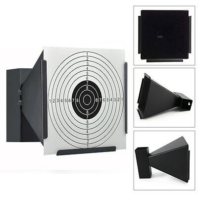 Air Rifle 14cm Card Funnel Target Holder Pellet Trap Auto Reset Free 100 Targets
