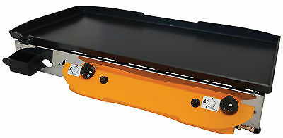 Lpg Griddle Hot Plate Barbecue  80x40 cm XLarge  Professional LOTUS 80 EXPERT