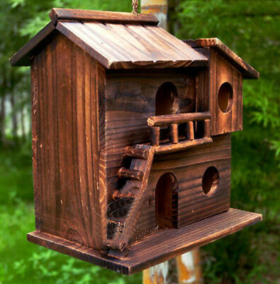 NEW Birdhouse Bluebird Large Wooden Bird House DIY Handmade - 25x25x16cm