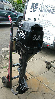 9.8 hp long shaft Tohatsu outboard remote control electric boat engine 4stroke