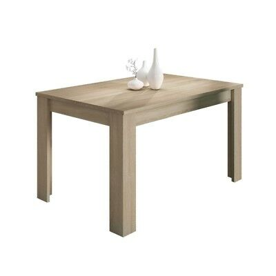 Mesa de comedor rectangular en color roble canadian extensible modelo GETXO