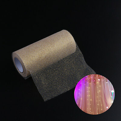 """Gold Tulle Roll Spool For Craft Wedding Party Wrapping Decoration 6""""X25Yd"""