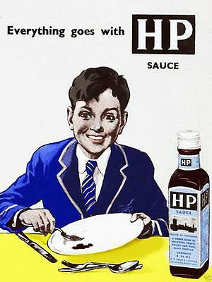 HP Sauce Advert Vintage Retro Style Metal Sign brown sauce
