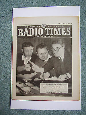 Postcard Radio Times cover November 1957 The Goons Spike Milligan Peter Sellers