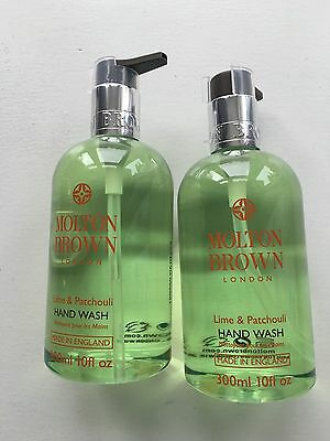 2* Molton Brown Lime and Patchouli Hand Wash 300ml (600ml total) Brand New