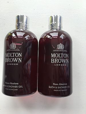 Molton Brown 2 x 300ml Rosa Absolute Bath & Shower Gel NEW