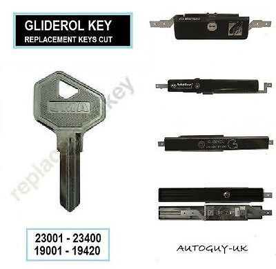 Two Keys Cut For Gliderol - Steel Line Garage Door Lock - Roller Door Keys