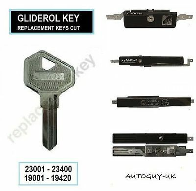 Two Gliderol - Steel Line Garage Door Lock - Roller Door Lock Keys Cut To Code