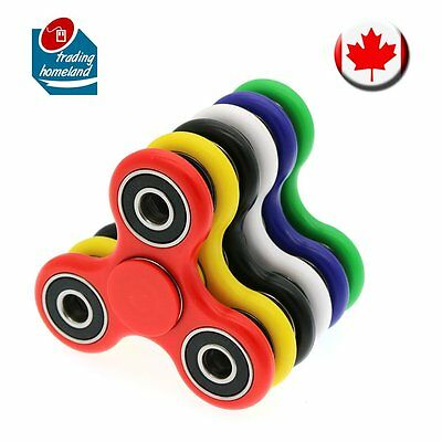 Fidget Hand Spinner Tri EDC Toys Stress Relief Games Ceramic Steel Bearings CA