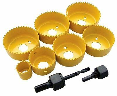 New 9Pc Hole Saw Set Holesaw Wood Down Light Ceiling Light Installation Kit