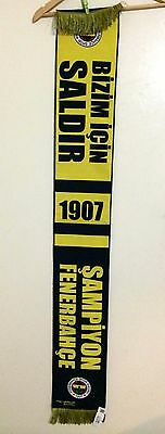 'BNWT' Turkish powerhouse club Fenerbahce FC supporter scarf Polyester / Acrylic