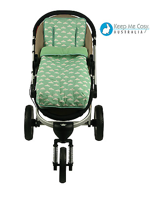 Keep Me Cosy 2 in 1 infant Footmuff + FREE Harness & Buckle Cosy - Cloud Mint