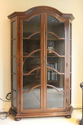 traditional style reproduction antique display cabinet. Black Bedroom Furniture Sets. Home Design Ideas